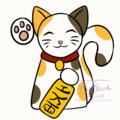 Beckoning cat gif